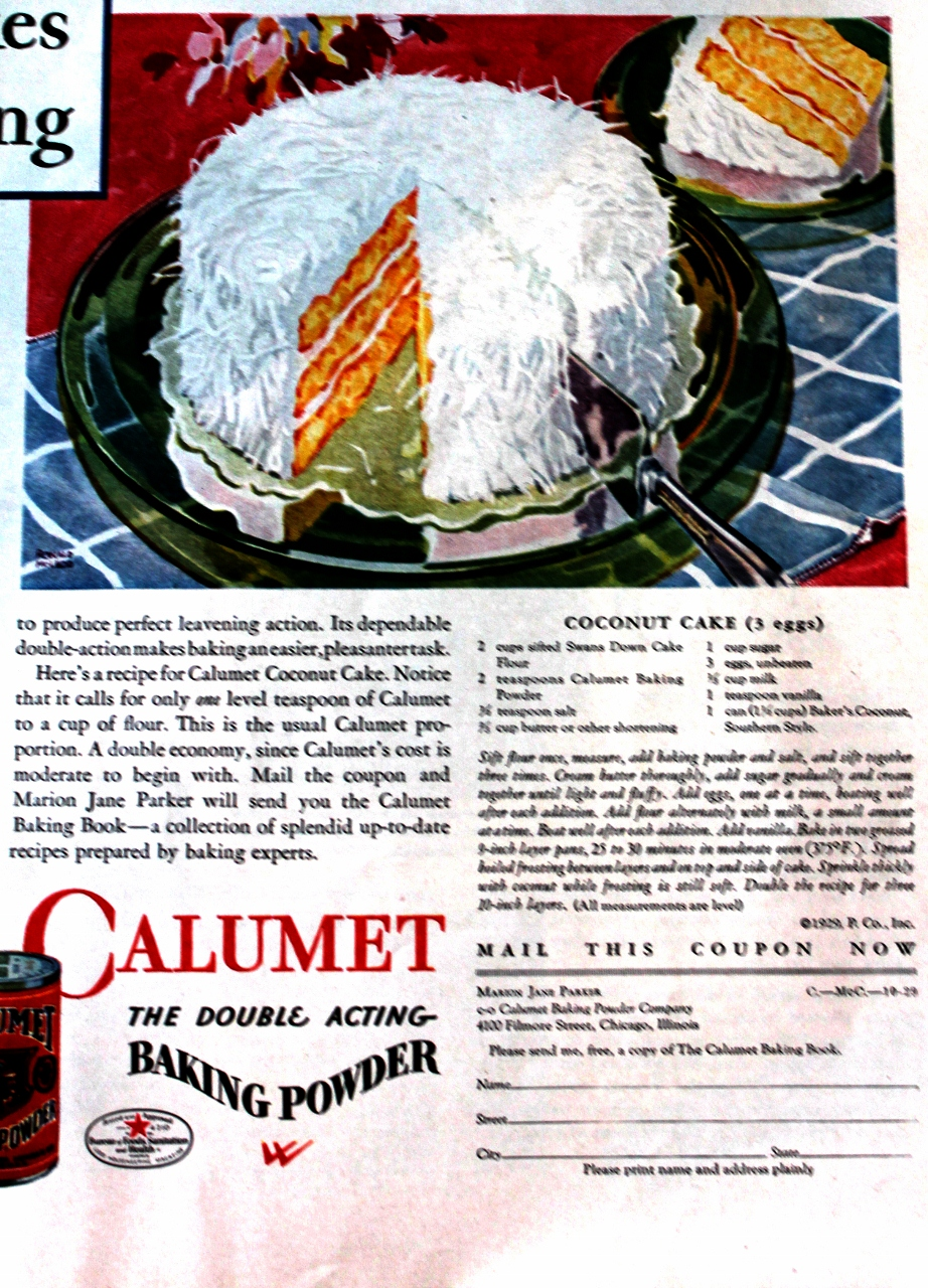 Recipes from 1929